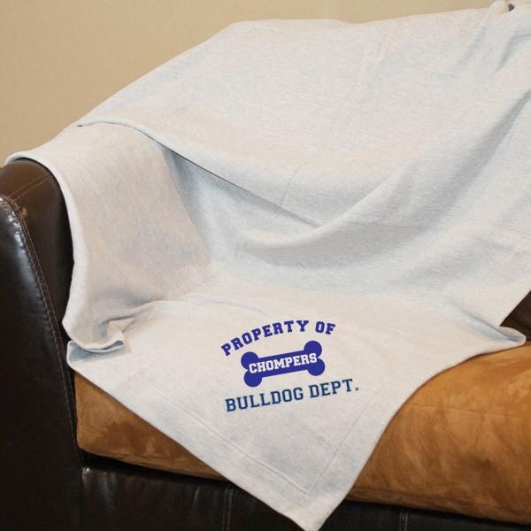 Personalized Property Of Dog Breed Fleece Blanket